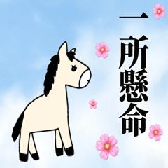 [LINEスタンプ] 馬のスプリンからメッセージ 第2弾の画像(メイン)