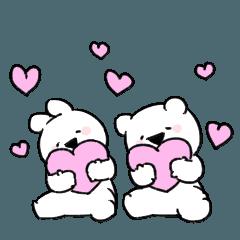 [LINEスタンプ] すこぶる動くちびウサギ&クマ【日常】