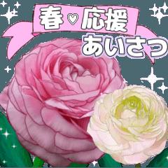 [LINEスタンプ] 可愛い過ぎない大人シンプルなお花5 春