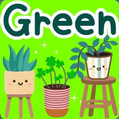 [LINEスタンプ] 大人のための癒しグリーン(緑)挨拶スタンプ