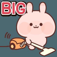 [LINEスタンプ] もちころピンクうさぎ(ビッグスタンプ)
