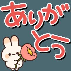 [LINEスタンプ] 毎日使える♪ウサギさんの動くデカ文字