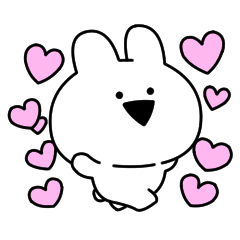 [LINEスタンプ] すこぶる動くウサギ【プチ】