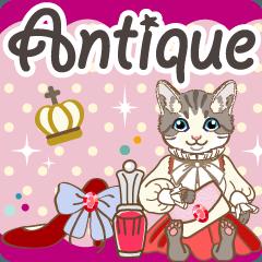 [LINEスタンプ] アンティーク雑貨と西洋猫の挨拶スタンプ