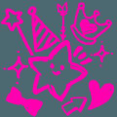 [LINEスタンプ] らくがき風デコスタンプ☆パーティー