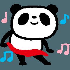 [LINEスタンプ] 踊るパンツパンダ 4 運動不足