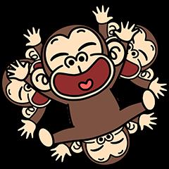 [LINEスタンプ] イラッと飛び出す★お猿さん3