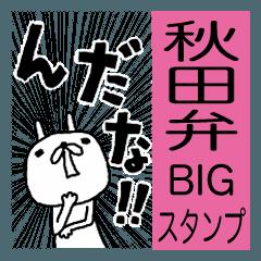 [LINEスタンプ] 秋田弁BIGスタンプめんけ~ウサギ