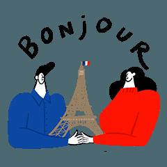 [LINEスタンプ] ベティー、パリへ行く!