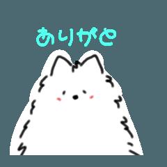 [LINEスタンプ] サモエドの福さん