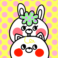 [LINEスタンプ] POPなネコとウサギの日常会話・その2