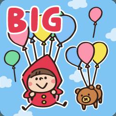 [LINEスタンプ] 【BIG】とにかく文字が大きい Witch hood