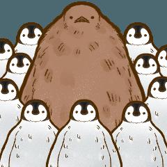 [LINEスタンプ] もふもふキングペンギンのヒナ