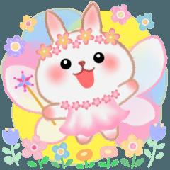 [LINEスタンプ] 毎日使える♥妖精うさっぴ