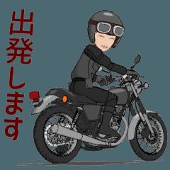 [LINEスタンプ] 単気筒のバイクに乗る 2