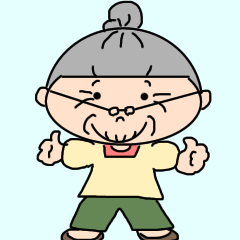 [LINEスタンプ] パッツン髪のおばあちゃん