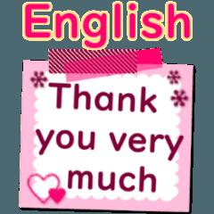[LINEスタンプ] かわいいデカ文字英語の挨拶